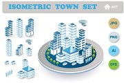 Town isometric  set