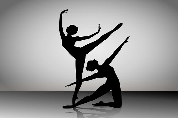Silhouettes Of A Ballet Dancer