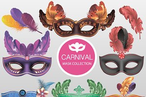 Carnival Masks set Vector
