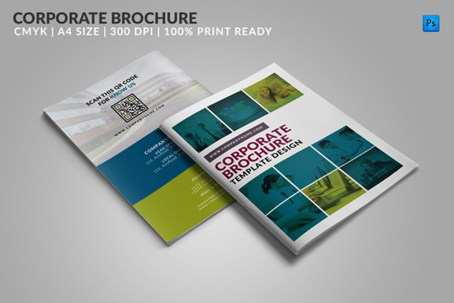 2 Page Brochure >> 8 Page Corporate Bifold Brochure 2 Brochure Templates