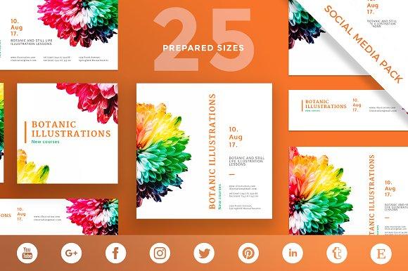 Social Media Pack Botanic