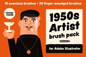 1950s Artist Brush Pack