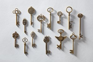 Antique golden keys