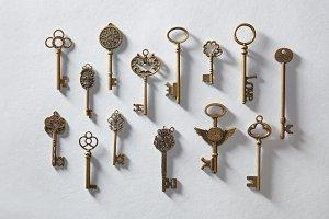 Antique golden keys