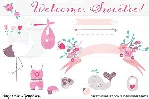 Clip Art Baby Shower Girl Babygirl