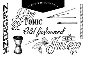 Craft Cocktail Illustrations