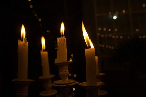 Lighting a candle in the night
