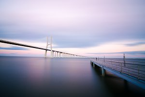 Vasco da Gama bridge in Lisbon, Portugal 4.jpg