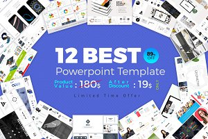 Best 12 PowerPoint Template Bundle