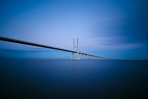 Vasco da Gama bridge in Lisbon, Portugal 6.jpg