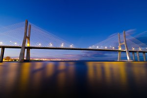 Vasco da Gama bridge in Lisbon, Portugal 7.jpg