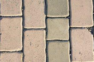 Texture paving stone block sidewalk