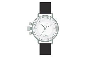 silver wristwatch image