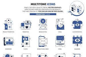 Multi tone icons, promotion theme