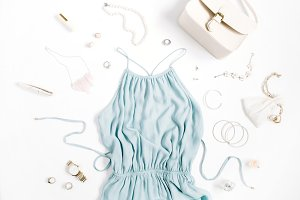Feminine dress and accessories