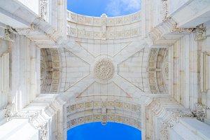 Arco Rua Augusta in Lisbon, Portugal