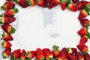 Fresh organic strawberry