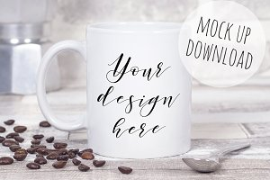 Coffee Mug Mockup Photograph