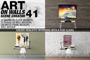 Canvas Mockups - Frames Mockups v 41