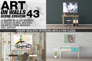 Canvas Mockups - Frames Mockups v 43