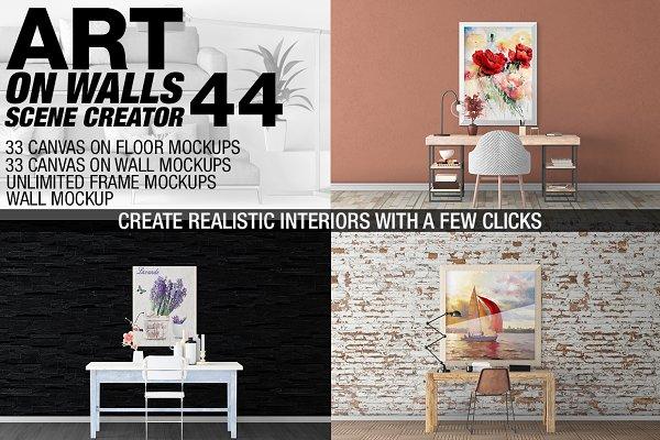 Canvas Mockups - Frames Mockups v 4…