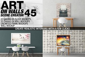 Canvas Mockups - Frames Mockups v 45