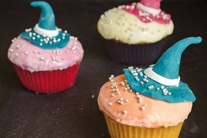 Fantasy cupcakes, halloween holidays