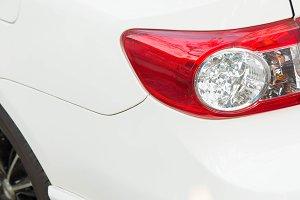 Rear light white car