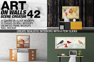 Canvas Mockups - Frames Mockups v 42