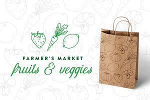 Market Fruit & Veggie Illustrations