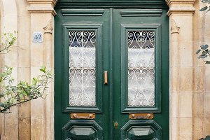 Traditional greece door