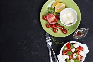 Ingredients for caprese