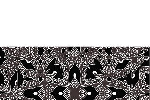 Oriental Dark Ornate Seamless Pattern