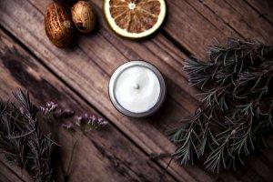 Oranic cream with lavender
