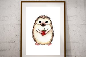 Printable Hedgehog Wall Art