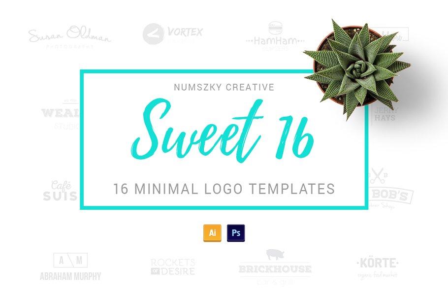 Sweet 16 | sixteen minimal logos