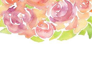 watercolor rose flower paint