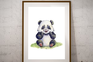 Printable Panda Wall Art