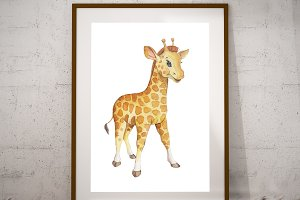 Printable Giraffe Wall art