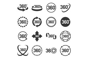 360 Degree Icons Set