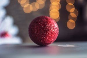 Christmas Tree Red Ball