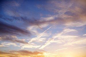 Skyblue sunset