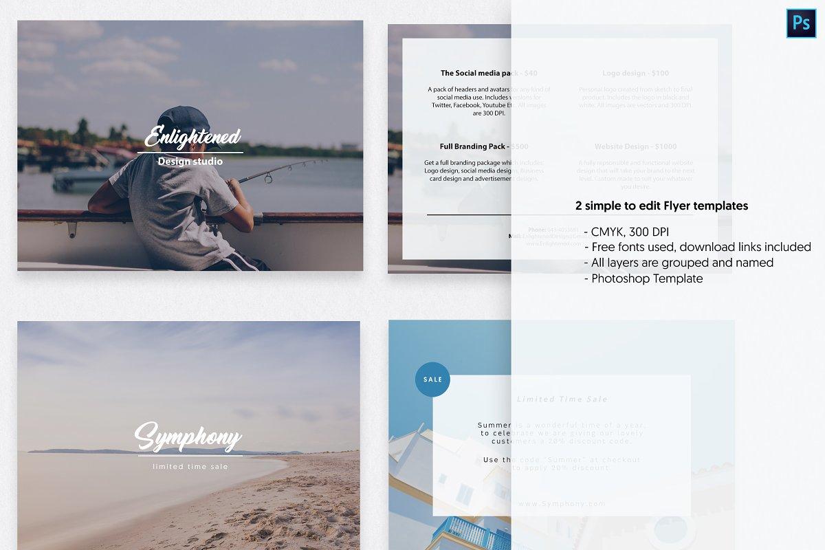 Postcard Flyer Templates ~ Templates ~ Creative Market