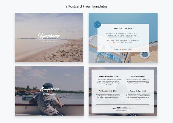 Postcard Flyer Templates Templates Creative Market - Postcard flyer template