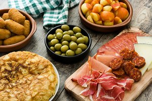 Traditional spanish tapas
