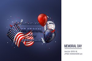 USA memorial day design.