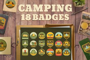 18 Camping logos (badges) templates