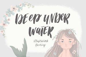 Deep under water - mermaid set