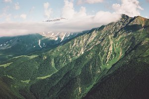 Mountains and forest Landscape