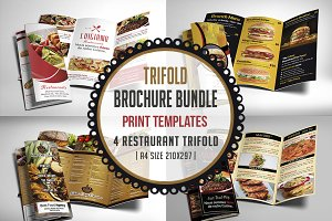 Restaurant Menu Trifold Bundle